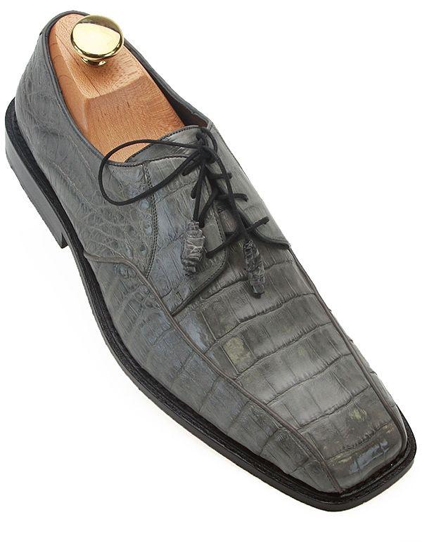 Los Altos Gray Caiman Skin Dress Shoes  $399.99  http://shopbigtime.com/shop/all/BGT00798-los-altos-los-altos-gray-caiman-skin-dress-shoes  #LosAltosShoes #ExoticSkinShoes #CaimanShoes