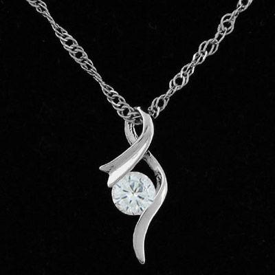 d8851ff73d189b Barbie silver color diamond decorated simple design alloy Korean Necklaces
