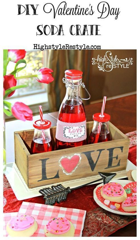 If you're looking for a quick and easy Valentine's Day decoration, I've got you covered! #valentines day party centerpieces Easy Valentine's Day Soda Crate Centerpiece    You may certainly start off decorating your home at any time but Specifically throughout your Christmas holiday break, you will see everybody extremely associated with decorating their residences and on the lookout for distinctive Strategies for the same. As Ch... #Easy #quick #Valentines #Valentines day photography #Youre