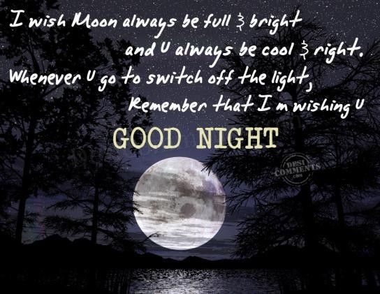 Wish You A Lovely Good Night Full Of Bright Stars And Cool Dreams