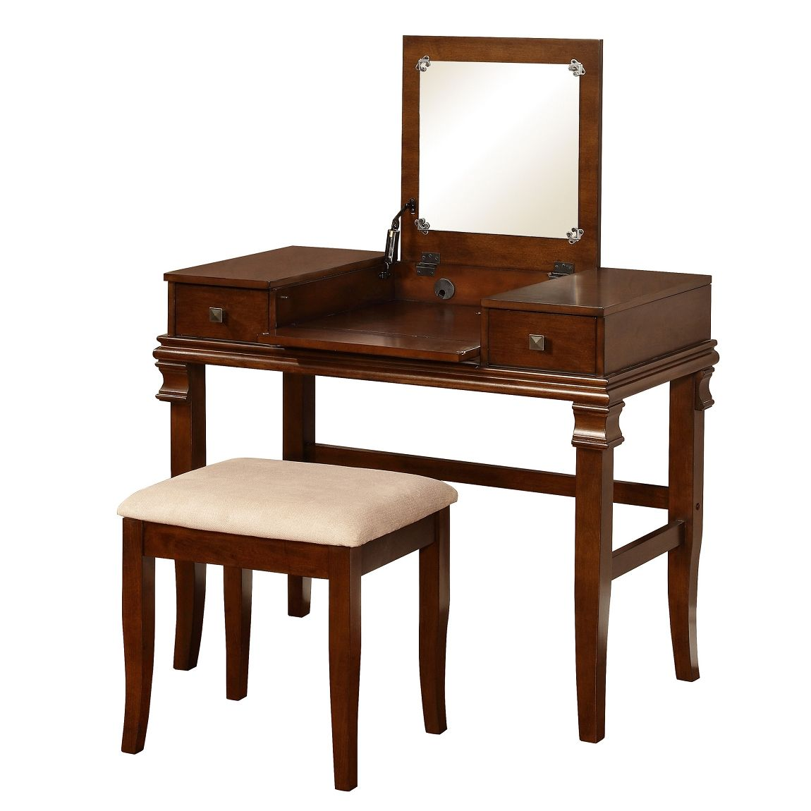 Linon angela vanity set with mirror home furnishings pinterest