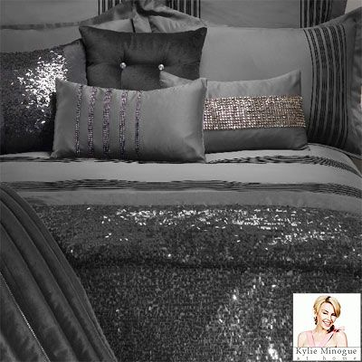 Kylie Minogue At Home Carita Duvet Cover, Slate, Single | Home is ... : kylie quilt covers - Adamdwight.com