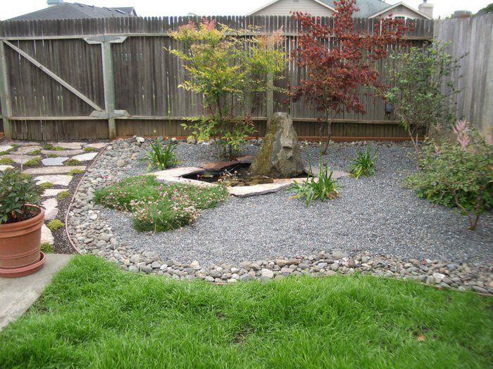 Garten mit Kies ist eine schöne Lösung für den Außenbereich - gartengestaltungsideen mit kies
