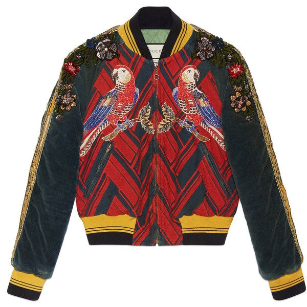 Gucci Embroidered Corduroy Bomber Jacket ( 8 13edca0bd6