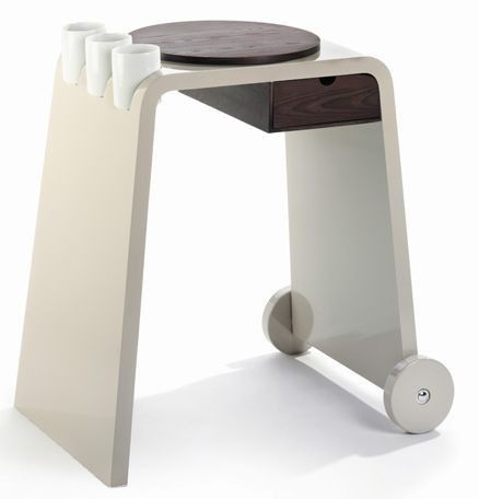 LEGNOART Carrello da cucina TROLLER, legno di frassino chiaro ...