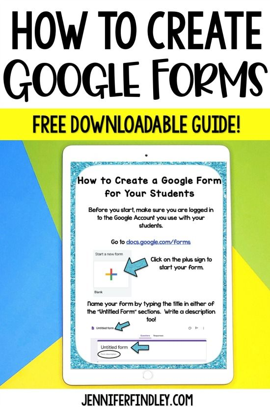 Want to create Google Form activities for your students? Grab a free downloadable guide to help you learn to create your own Google Forms!