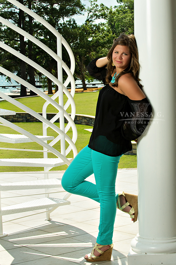 Teal and black - stunning for senior portraits