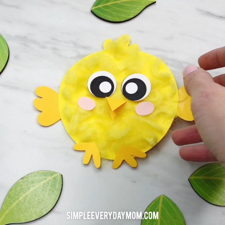 Easy Fluffy Chick Craft For Kids [Free Template}