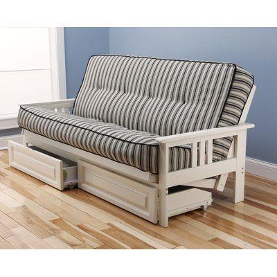 Sofa Tables Etta Futon and Mattress Frame Finish White http delanico