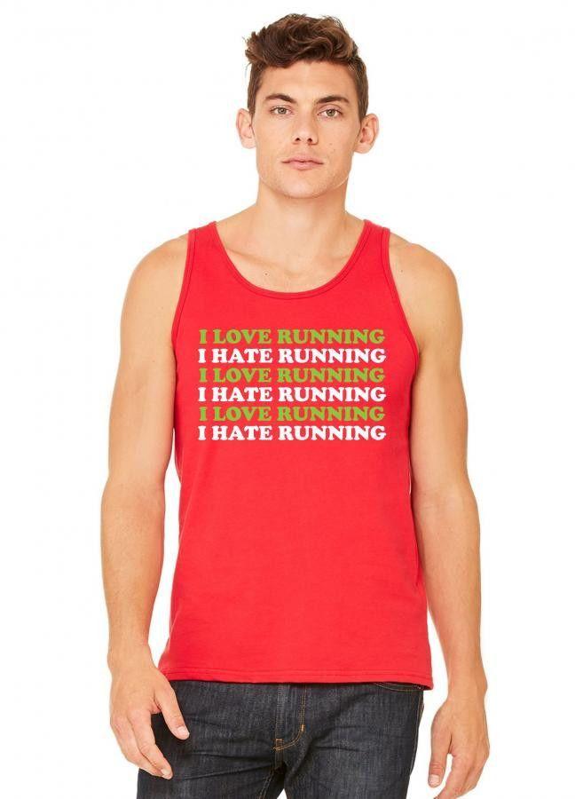 I Love Running I Hate Running tank top