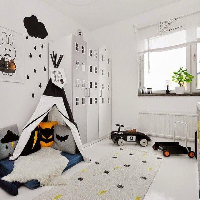 Chambre Enfant Noir Et Blanc White Kids Room Kids Room