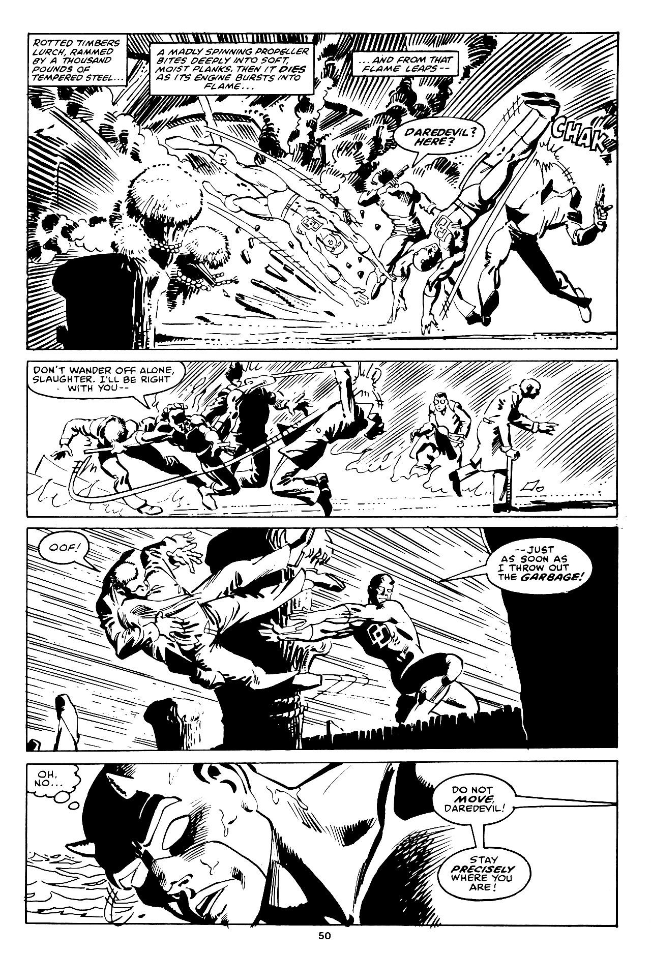 Daredevil in elektra penciled by frank miller and inked by klaus janson pg 20