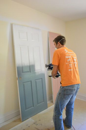 Priming and painting our trim and doors with a paint sprayer priming and paint interior doors planetlyrics
