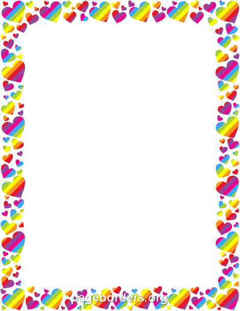 Rainbow Heart Border Projects To Try Page Borders