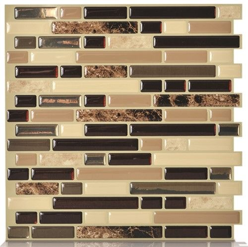 Peel and Stick Decorative Mosaic Wall Tile 10' x 10.125
