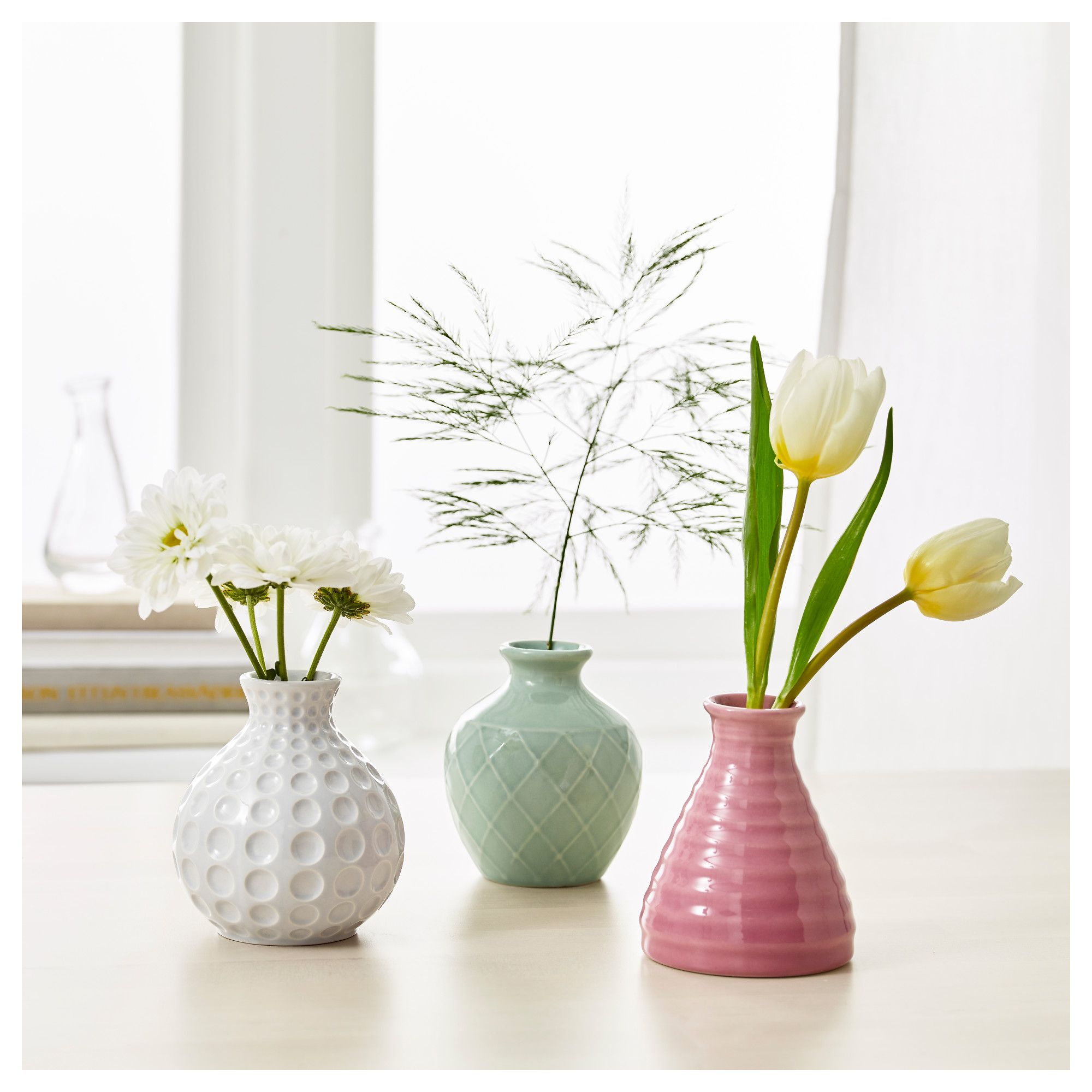 Ikea sommar 2017 vase set of 3 ideas for h florals ikea sommar vase set of the unique shape makes the vases beautiful with and without flowers floridaeventfo Image collections