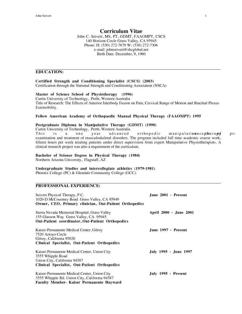 Resume For Physical Therapist Sample Resume Physical Therapist Assistants Therapy Assistant The .