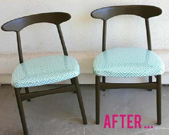 Kid-proof Chair Makeover — Before & After