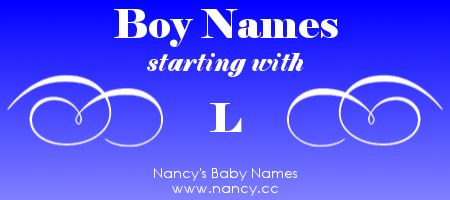Boy Names That Start With The Letter L Each Name Links To A Popularity Graph