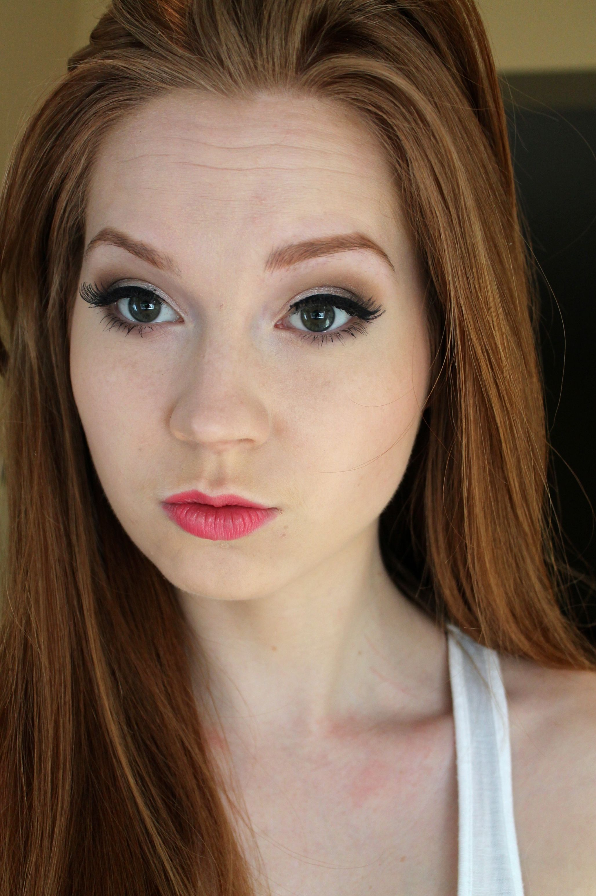 bright lips for spring love beauty redhead ginger