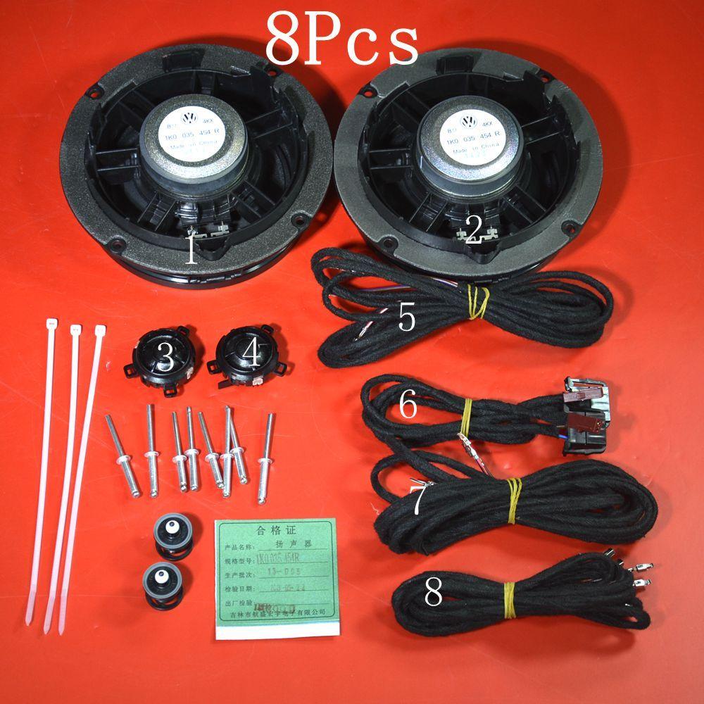hight resolution of 8 pcs genuine new vw jetta mk5 04 10 front door loud speaker tweeter