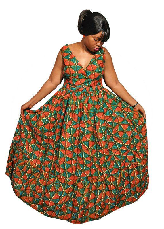 African print maxi dresses pinterest