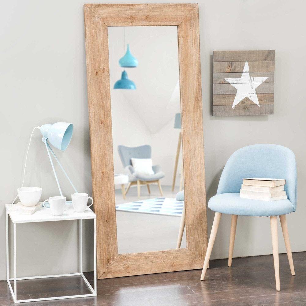 Miroir En Orme Recycle H 160 Cm Key West Decor Maisonsdumonde