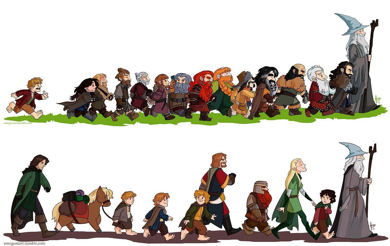The Hobbit vs Lord of the Rings   Fellowship of the ring ...