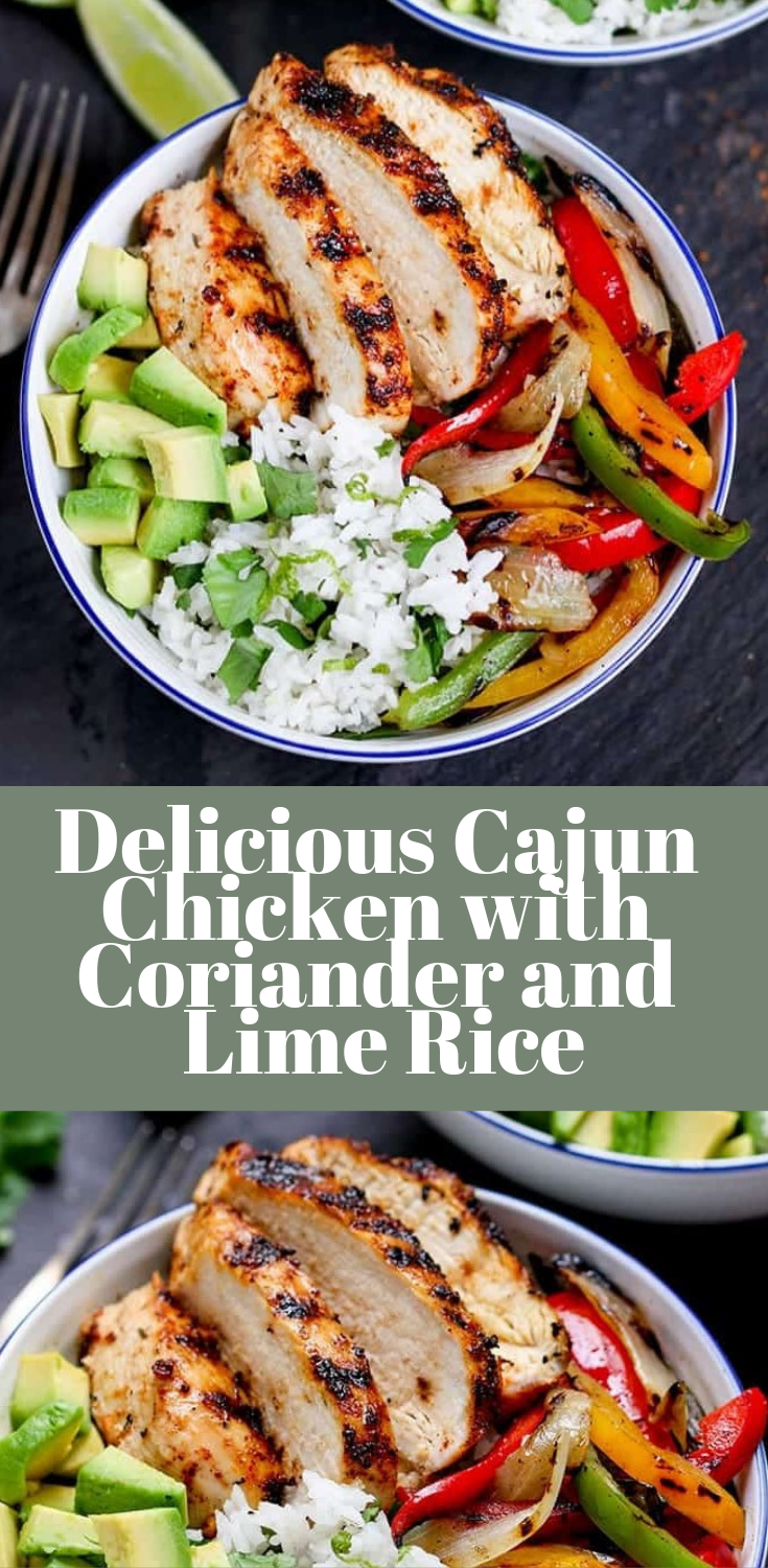 Delicious Cajun Chicken with Coriander and Lime Rice | Food Dinner Recipes images