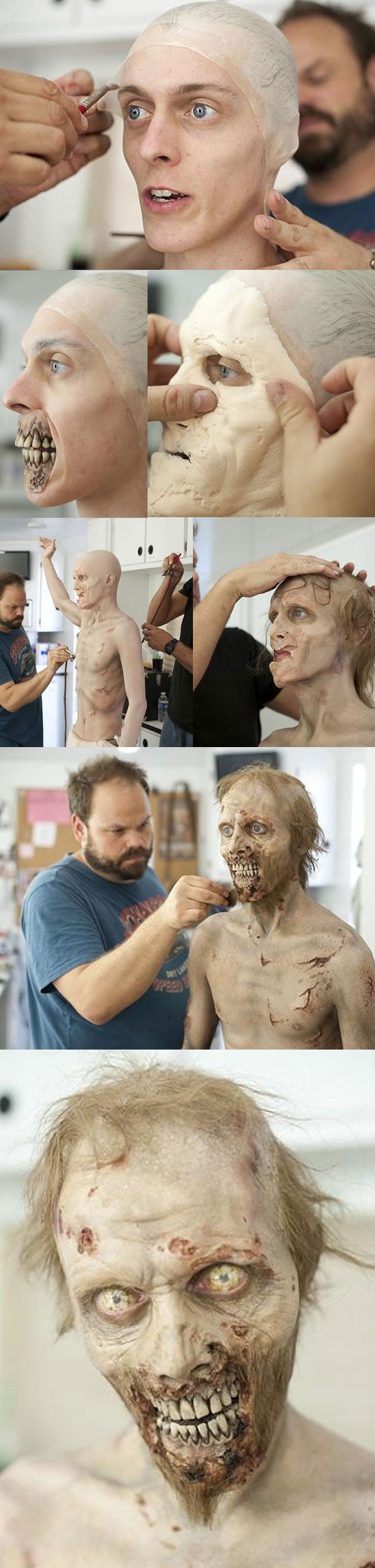 Zombie Costume   Make Up-  Wow! I would be a little shocked to see this! Realistic!