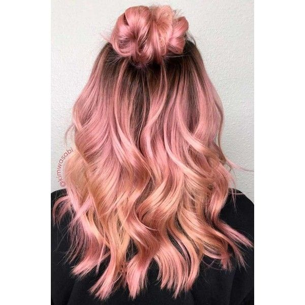 18 Rose Gold Hair Color Trends   LoveHairStyles.com ❤ liked on ...