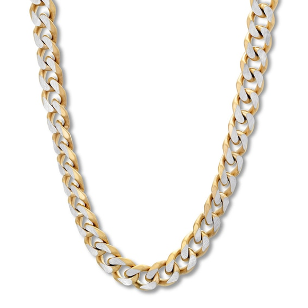 Men S Curb Chain Necklace Stainless Steel Yellow Ion Plated 30 Kay Gold Chains For Men Chains For Men Mens Gold Chain Necklace
