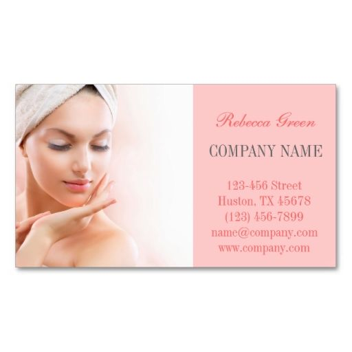 Skin Care facial beauty salon massage SPA Business Card Templates ...