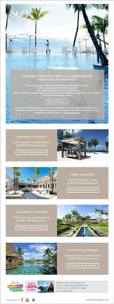 Sun Resorts Sejour En Pension Complete Au Prix De La Demi