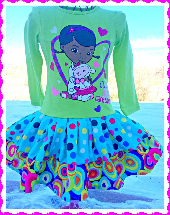 Doc McStuffins twirl party Dress layers of by BlossomBlueBoutique, $34.99