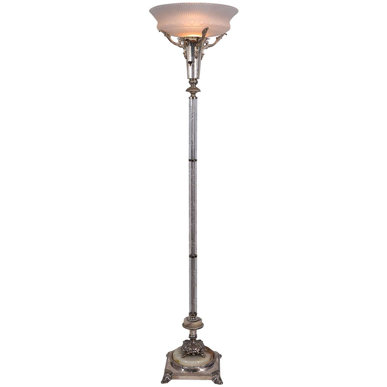 Silver Plated Torchiere Floor Lamp 1stdibs Com Torchiere Floor Lamp Floor Lamp Beautiful Floor Lamps