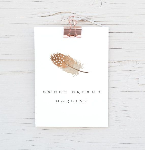 $1.00 Printables! Sweet Dreams Darling 5x7 Print by TheDollarPrintCo on Etsy