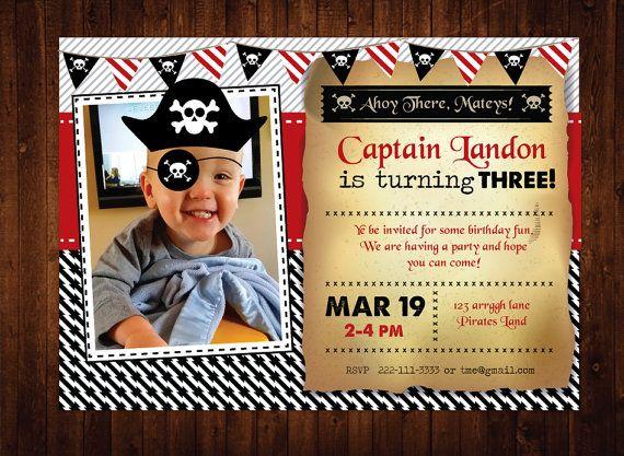 Pirate birthday invitation personalized pirate birthday party pirate birthday invitation personalized pirate birthday party invites filmwisefo