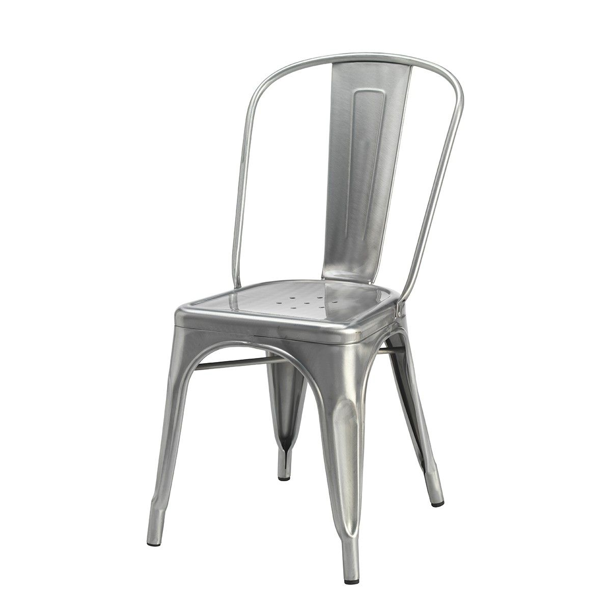 Charmant Silver Tolix Chair