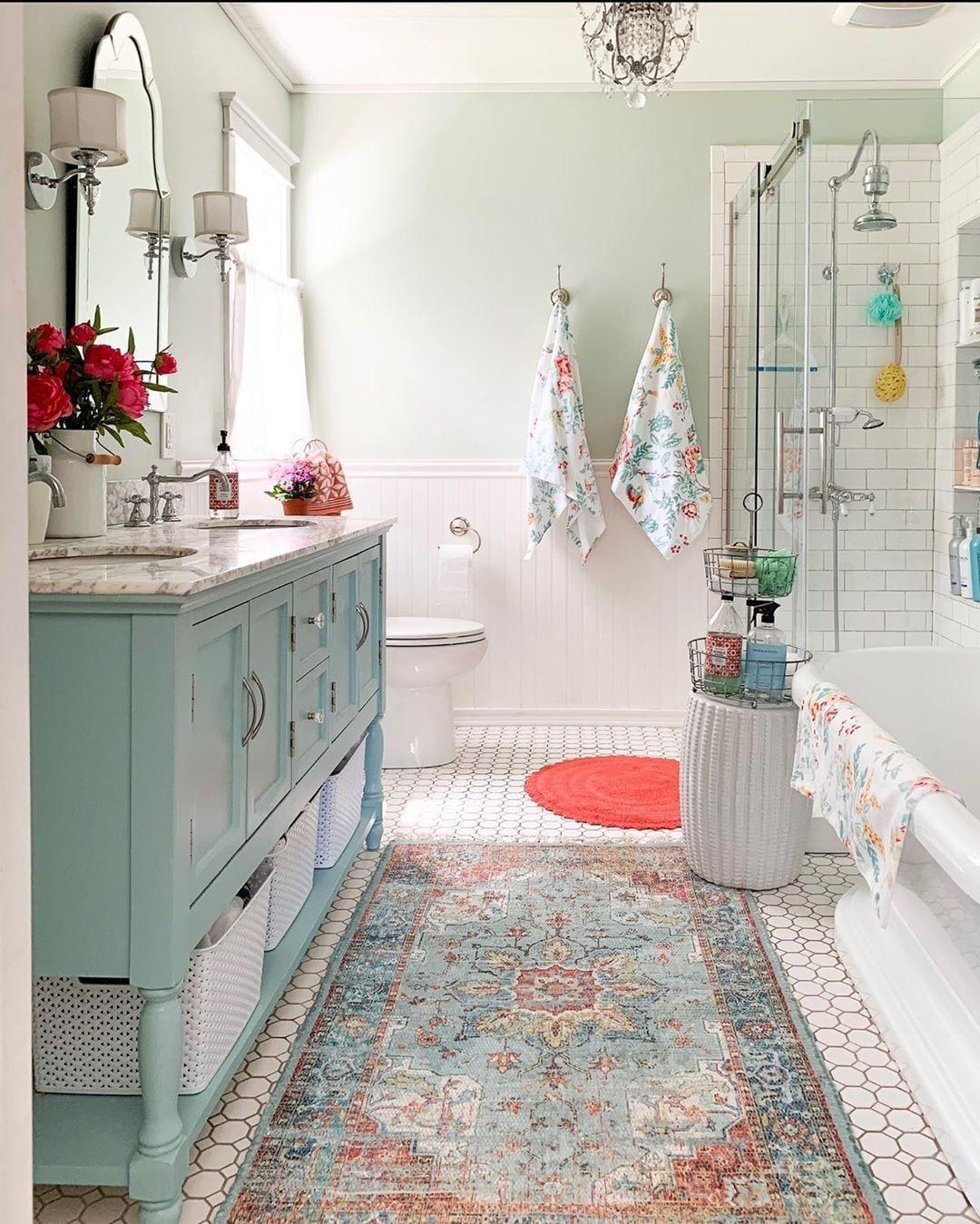 Farmhousedailyinspo On Instagram What A Bathroom Goldenboysandme Farmhousedecor Farmh Pretty Bathrooms Bathrooms Remodel Bathroom Decor