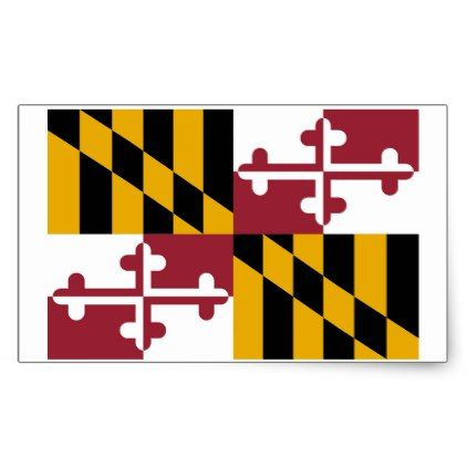 Maryland state flag sticker 4 per sheet