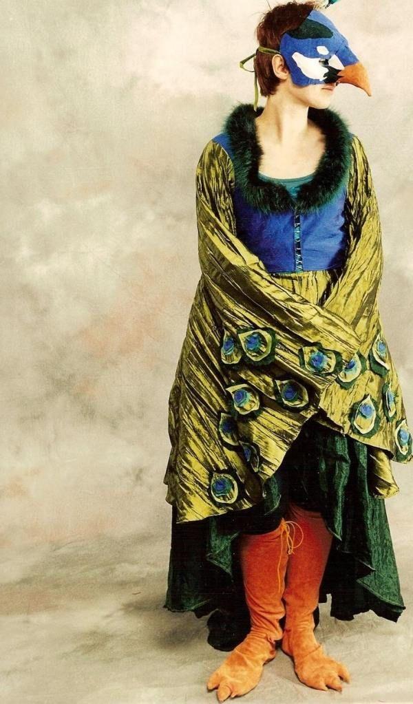 Damen Kostum Ideen Selber Machen Pfau Feder Fasching Fasching In