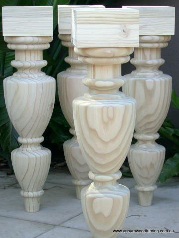 Tdtl06 turned dining table legs in radiata pine roman villa tdtl06 turned dining table legs in radiata pine watchthetrailerfo