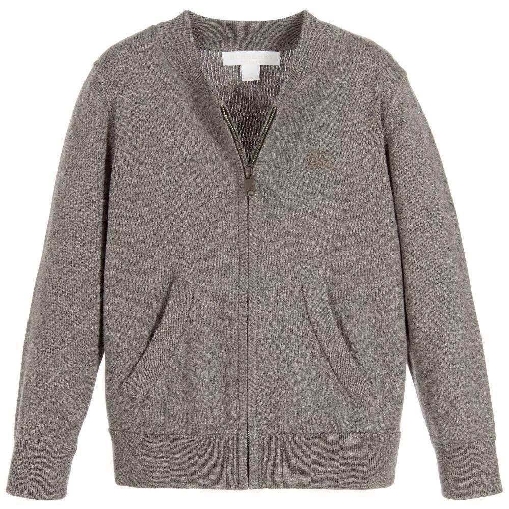 f799dfd2e40b9 Boys grey  Jackson  cardigan by British heritage brand