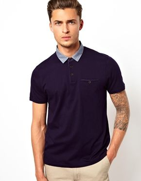 b586af7e4f6 Image 1 of Ted Baker Polo Shirt With Contrast Collar | A taste of ...