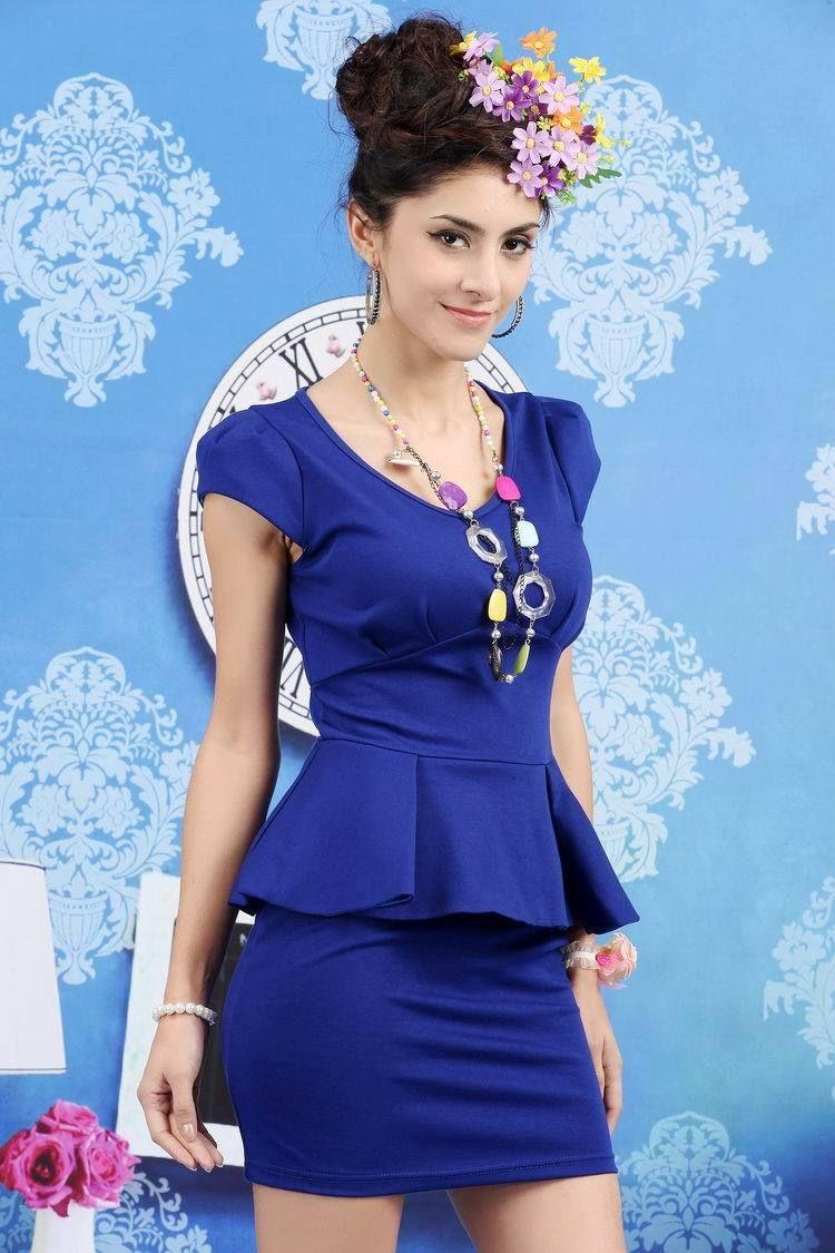 Vestidos de colores ala moda