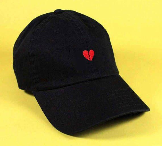 5c5e5d7728e15 NEW Broken Heart Emoji Baseball Hat Dad Hat Low Profile Hang Loose ...