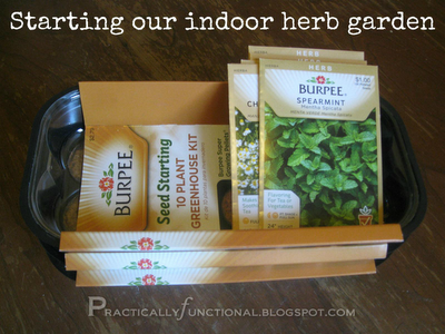 Herb Garden Series pt1 Start an indoor herb garden from seeds