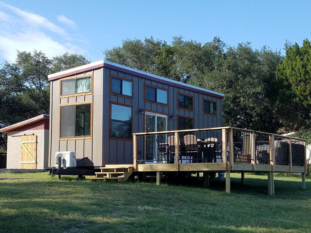 These Are Two Waterfront Tiny Homes Built By Nomad Tiny Homes On Lake  Travis Near Austin, Texas. Two New 2 Bedroom Tiny Homes On Lake Travis.