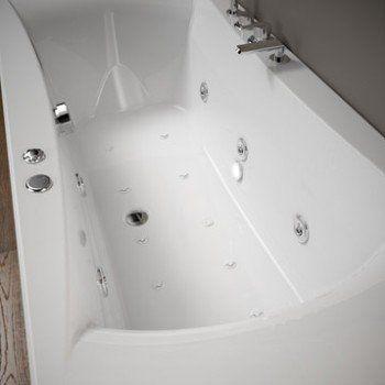 Baignoire balnéo avec robinetterie rectangulaire L.170x l.75 cm, THALA  Confort   9ddd589cc13e